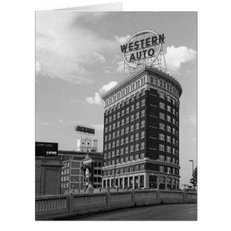 Western Auto Half Cylinder Building Big Greeting Card