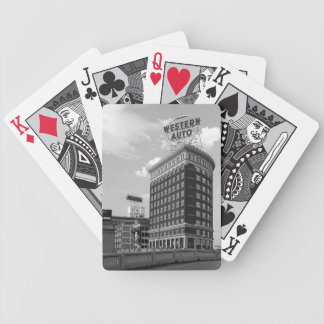 Western Auto Half Cylinder Building Playing Cards