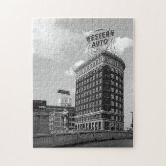 Western Auto Half Cylinder Building Puzzle