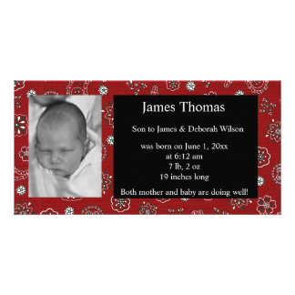 Western Baby Birth Announcement Photo Greeting Card