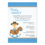 Western Baby on Rocking Horse Baby Shower 13 Cm X 18 Cm Invitation Card