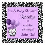 Western Baby Shower Invitation Purple Cowgirl