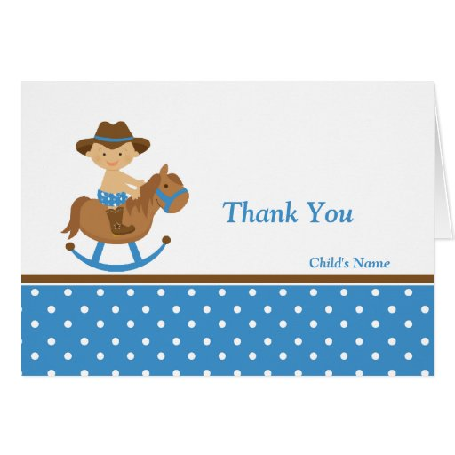western baby shower thank you greeting cards zazzle