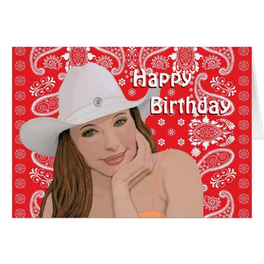 Western Birthday Card