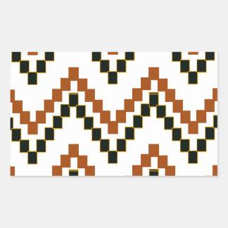 Western Block Chevron Rectangular Sticker