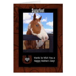 Western Brown and Black Mother's Day Photo Greeting Card