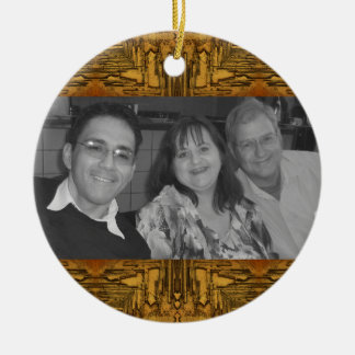 western brown photoframe christmas ornament