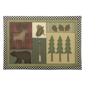 Western Cabin fun place mat