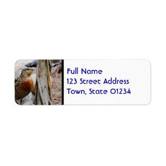 Western Capercaillie Return Address Label
