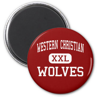 Western Christian - Wolves - High - Hull Iowa 6 Cm Round Magnet