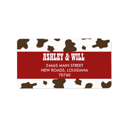 Western Christmas Label