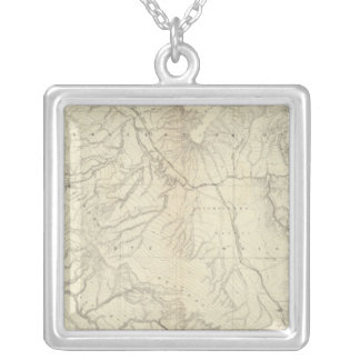 Western Colorado and Part of Utah Silver Plated Necklace