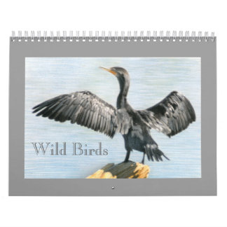 Western Colorado Wild Birds Drawings Calendar