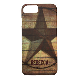 Western Country Primitive Barn Wood Texas Star iPhone 8/7 Case
