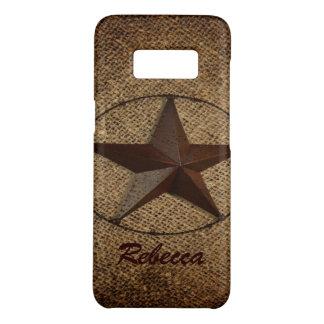 Western Country Rustic Burlap Primitive Texas Star Case-Mate Samsung Galaxy S8 Case