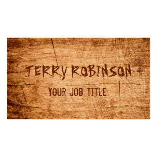 Western Country Rustic Scratched Wood Grain Pack Of Standard Business Cards