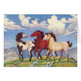 Western Cow Ponies Card