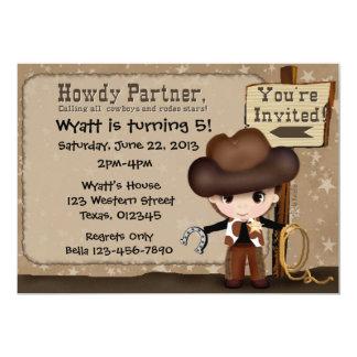 Western Cowboy Birthday Invitation