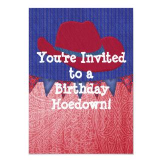 Western Cowboy Birthday Party Invitation