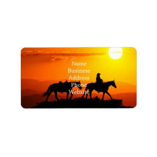 Western cowboy-Cowboy-texas-western-country Label