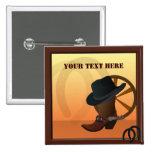 Western Cowboy Custom Button