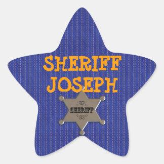 Western Cowboy Custom Sheriff Sticker