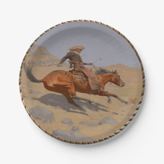 Western Cowboy Old West Party Plates 7 Inch Paper Plate