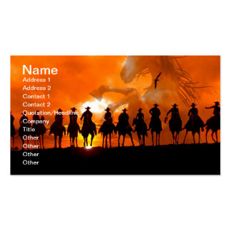Western Cowboy Rodeo Roundup Wild West Business Ca Pack Of Standard Business Cards