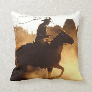 Western Cowboy with Lasso Cushion