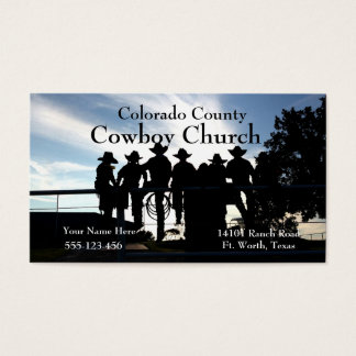 Western Cowboys On The FenceBusiness Card Template