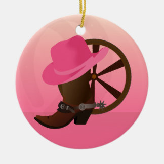 Western Cowgirl Christmas Ornament