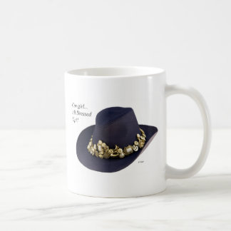 Western Cowgirl Hat Dressed To Party Coffee Mug