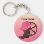 Western Cowgirl Keychain