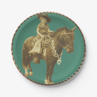 Western Cowgirl Party Paper Plates 7 Inch Paper Plate