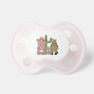 Western Cowgirl Pony Desert Scene Pacifiers