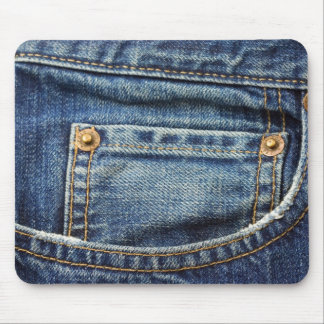 Western Denim Jeans Mouse Pad
