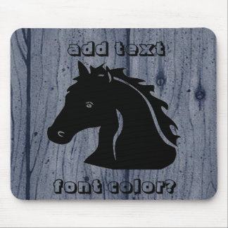 Western Design Horse Silhouette Mousepad