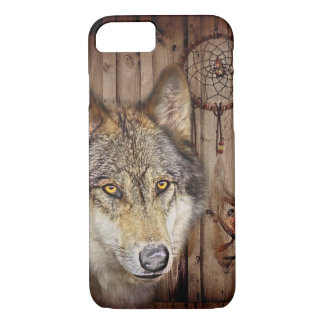 Western dream catcher  native american indian wolf iPhone 8/7 case