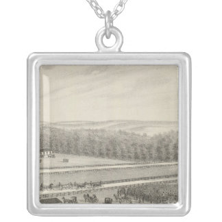Western Driving and Exhibition Park, Kansas Silver Plated Necklace