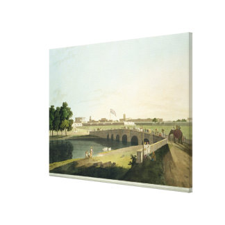 Western Entrance of Fort St. George, Madras, plate Canvas Print