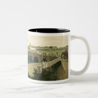 Western Entrance of Fort St. George, Madras, plate Two-Tone Coffee Mug