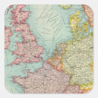 Western Europe communications Square Sticker