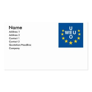 Western European Union Business Card Template