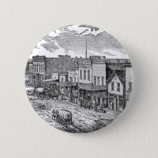 Western expansion in frontier America 6 Cm Round Badge