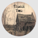 western farmhouse customisable country Wedding Round Stickers