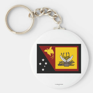 Western (Fly River)  Province, PNG Basic Round Button Key Ring