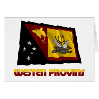 Western (Fly River)  Province Waving Flag Greeting Card