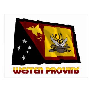 Western (Fly River)  Province Waving Flag Postcard