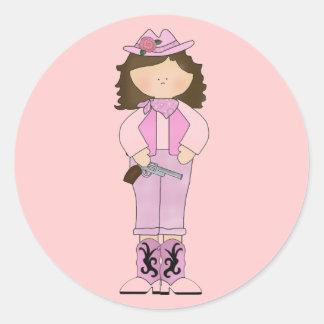 Western Fun Cowgirl Cool Stickers