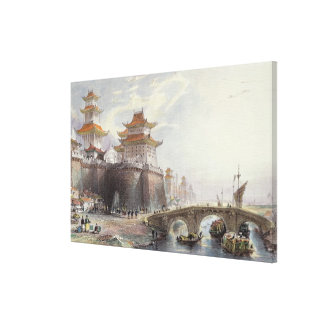 Western Gate of Peking, c.1850 (colour litho) Canvas Print
